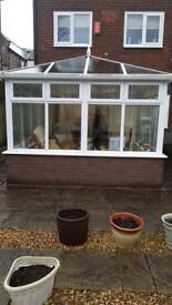 Conservatory base and roof