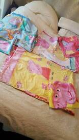 Peppa and George pig bed sheet sets