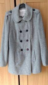 Ladies Grey coat Size 14