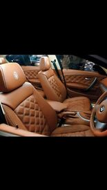 MADE TO MEASURE CAR LEATHER SEAT COVERS TOYOTA PRIUS HONDA INSIGHT VAUXHALL INSIGNIA FORD MONDEO