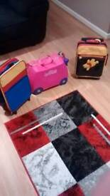 Kids suitcases including trunki