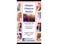 Glasgow princess superhero Parties Belle Elsa Rapunzel dj kids children entertainment live singing