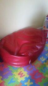 Large red bean bag