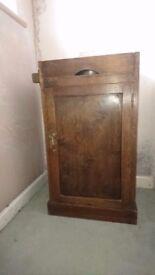 vintage washstand in walnut veneer