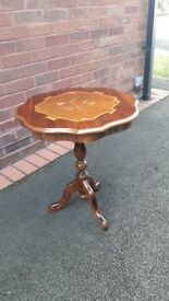 Wooden pattened side table