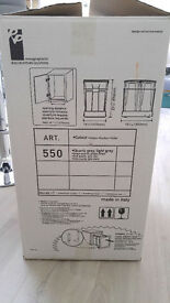 70 litre waste capacity - double pulll out bin for kitchen (2x35L) Made in Italy - BNIB