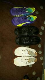 3 pairs of shoes for boy size 13 and 1