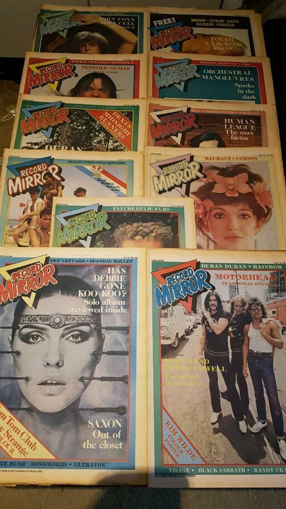 51 x RECORD MIRROR MUSIC MAGAZINES 1981
