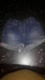 3-4 Girls denim shorts