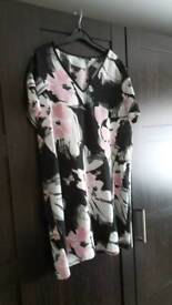 Lovely flowered dress size 16