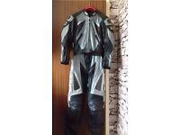 ladies size 10/36 ixs 2 piece leathers grey and black