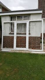 UPVC Patio/Conservatory door and side windows