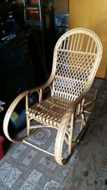 Bamboo Wicker Rocking Chair