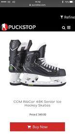 CCM RibCor 48K Pump Ice Skates 10D