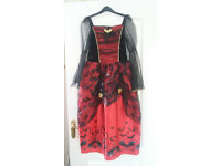 Girls Red and Black Halloween dress from George Age 10 to 12