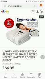 Brand new luxuary dream catcher fleece heated mattress topper