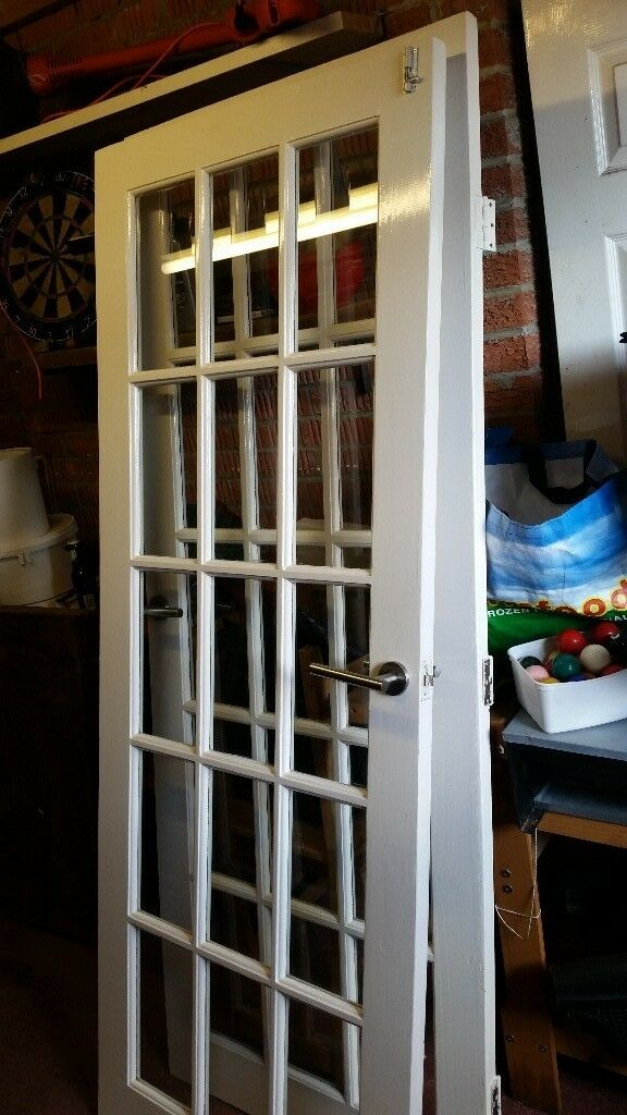 Double White Glass Panel Doors In Darlington County Durham Gumtree