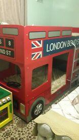 London bus kids bunk bed (unisex)