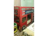 London bus kids bunk bed (unisex)