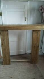 new fire place hand made in railway sleepers