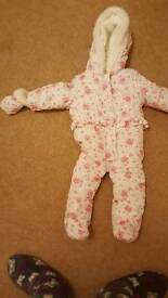 6-9 months baby girl snow suit