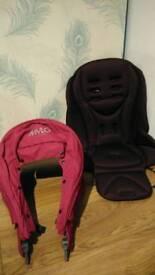 Mama's & Papa's Mylo pram, pushchair hood and seat fabrics