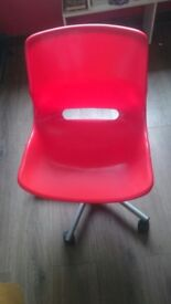 Child desk chair red