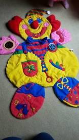 Tummy time clown mat