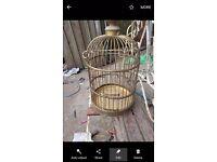 Old antique brass bird cage