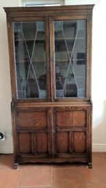 Vintage Bookcase, Display cabinet, Glass cabinet