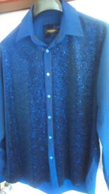 Navy blue shirt by Makrom London