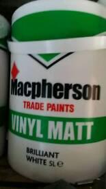 Macpherson white vinyl matt emulsion