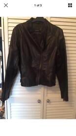 South leather jacket size 12