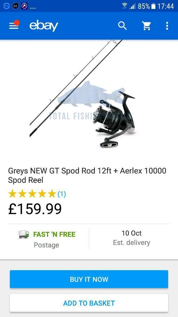 Greys gt spod Shimano reel used once plus spods/spoms.