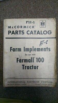 Parts Catalog Mccormick Farmall 100 Tractor F1i-1