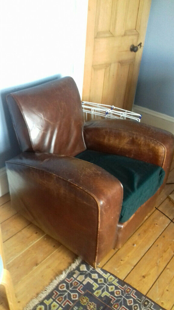 Amazing Leather Arm Chair Art Deco 1930S Style In East End Glasgow Gumtree Frankydiablos Diy Chair Ideas Frankydiabloscom