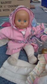 Soft Baby Doll Laura w/ clothes and accessories bundle
