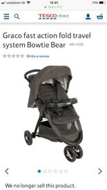 Graco Travel System - Pram and Car seat. Car seat clips on. Only used an handful of times.