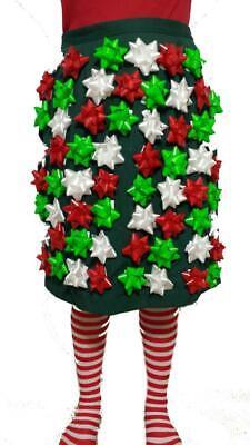 Ugly Christmas Sweater - Bow Dress of Christmas Bows Christmas Bow Skirt Sz Lg ()