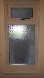 PVC window with top opener