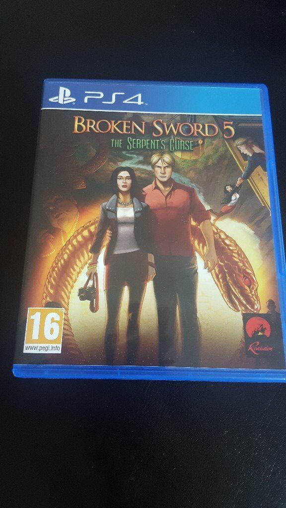 PS4 Broken Sword 5 The serpents curse As new conditionin Blackpool, LancashireGumtree - Hi,For sale PS4 Game Broken Sword 5 The serpents curse. Great Condition as new aged 16 game. £9