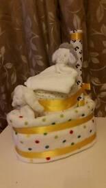 Tug Boat Nappy Cake