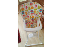 ☆ Baby High Chair. Graco Fruit Salad. Almost New ☆