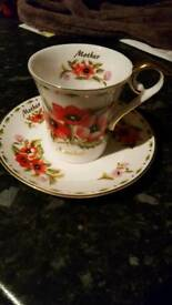 Cup and saucer for Mother
