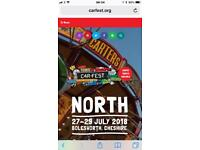 2 x Carfest North weekend tickets