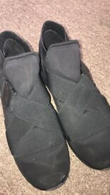 BERSHKA men's black trainers