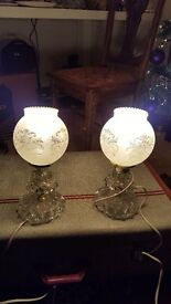 2 1940s antique lamps - Chris and Co