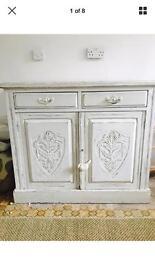 Shabby Chic oak Edwardian cupboard dresser🌷