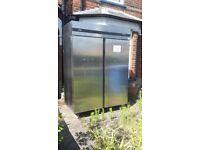 Zanussi/commercial fridge/needs gasing/double door/good door seals/ideal for restaurant etc