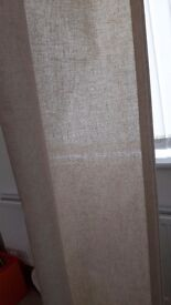 Beige linen roller blind 168cm width x 97cm drop *unused, excellent condition*